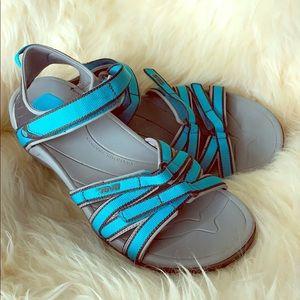 Teva Sandal Womens 10 Aqua Blue Tirra 4226